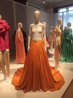 Mizrahi Orange satin ball skirt