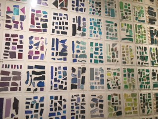Mizrahi wall of swatches