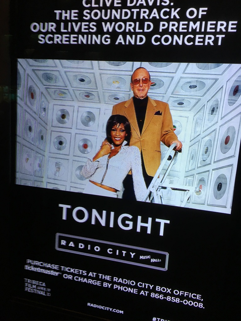 Clive Davis and Whitney Houston on poster