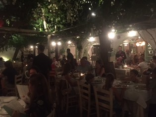 Avra Restaurant Garden inside courtyard