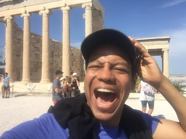 Mikey B at the Acropolis Selfie