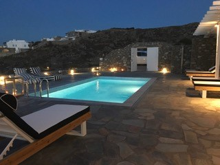 Mykonos No 5 Pool at Dusk