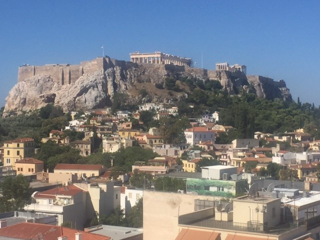 The Acropolis Atop a hill in Athens