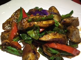 Charms Restaurant Eggplant and String Bean New York City