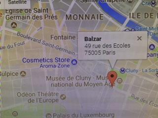 Balzar Brasserie Map