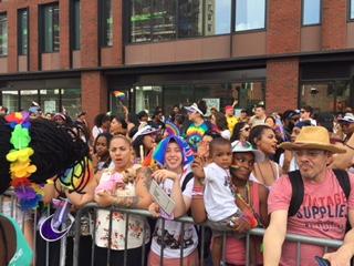 NYC Pride parade. Parade watchers 2018